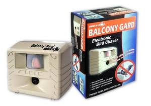 Bird-X Balcony Gard Plastic Ultrasonic Bird Repeller in Grey BBG