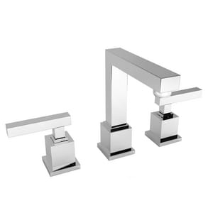 Newport Brass Cube 2 Two Handle Widespread Bathroom Sink Faucet in Polished Chrome N2030/26