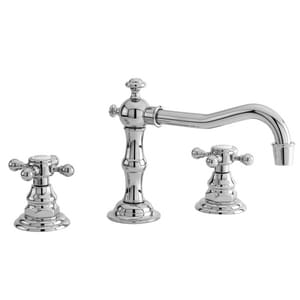 Newport Brass Chesterfield 1.2 gpm 3-Hole Deck Mount Widespread Lavatory Faucet with Double Cross Handle N930