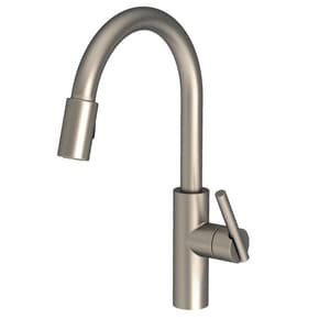 Newport Brass East Linear Single Handle Kitchen Faucet in Antique Nickel N1500-5103/15A
