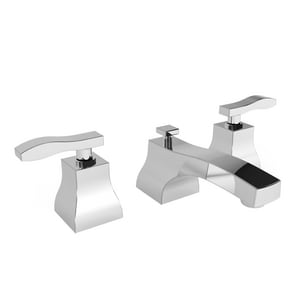 Newport Brass Colorado 1.2 gpm 3-Hole Widespread Lavatory Faucet with Double Lever Handle in Polished Chrome N1040/26