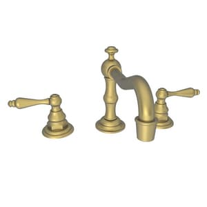 Newport Brass Chesterfield 1.2 gpm 3-Hole Widespread Lavatory Faucet with Double Lever Handle in Antique Brass N930L/06