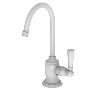 Newport Brass Jacobean 1 gpm 1 Hole Deck Mount Cold Water Dispenser with Single Lever Handle in White N2470-5623