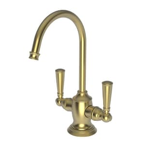 Newport Brass Jacobean 1 gpm 1 Hole Deck Mount Hot and Cold Water Dispenser with Double Lever Handle in Satin Brass - PVD N2470-5603/04