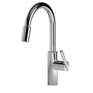 Newport Brass East Linear Single Handle Pull Down Kitchen Faucet in Polished Chrome N1500-5103/26