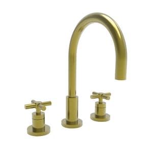 Newport Brass East Linear Two Handle Bathroom Sink Faucet in Satin Brass - PVD N990/04