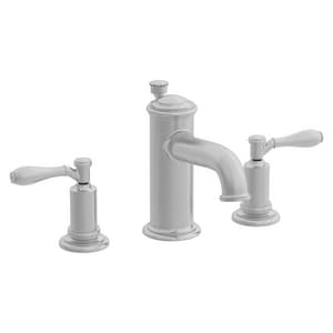 Newport Brass Ithaca 3-Hole Widespread Lavatory Faucet with Double Lever Handle and 6-1/8 in. Spout Reach in Stainless Steel - PVD N2550/20