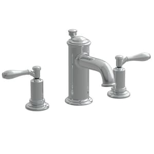 Newport Brass Ithaca 3-Hole Widespread Lavatory Faucet with Double Lever Handle and 6-1/8 in. Spout Reach in Polished Nickel - Natural N2550/15