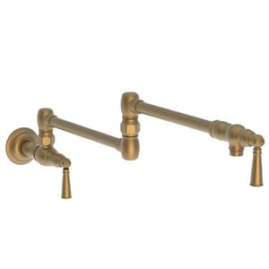 Newport Brass Jacobean Two Handle Lever Handle Pot Filler in Satin Bronze - PVD N2470-5503/10