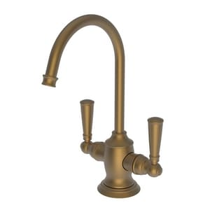 Newport Brass Jacobean 1 gpm 1 Hole Deck Mount Hot and Cold Water Dispenser with Double Lever Handle in Satin Bronze - PVD N2470-5603/10