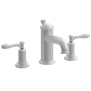 Newport Brass Ithaca 3-Hole Widespread Lavatory Faucet with Double Lever Handle and 6-1/8 in. Spout Reach in Satin Nickel - PVD N2550/15S
