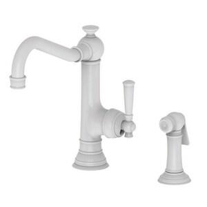 Newport Brass Jacobean Single Handle Kitchen Faucet in White N2470-5313/50