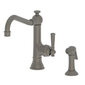 Newport Brass Jacobean Single Handle Kitchen Faucet in Weathered Brass N2470-5313/03W