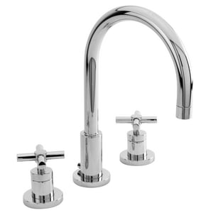 Newport Brass East Linear Two Handle Widespread Bathroom Sink Faucet in Polished Chrome N990/26