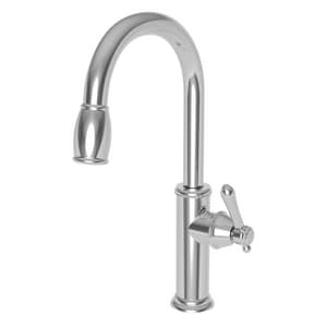 Newport Brass Chesterfield Single Handle Pull Down Kitchen Faucet in Polished Chrome N1030-5103/26