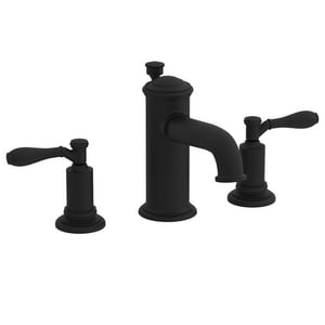Newport Brass Ithaca 3-Hole Widespread Lavatory Faucet with Double Lever Handle in Flat Black N2550/56