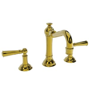 Newport Brass Jacobean Two Handle Widespread Bathroom Sink Faucet in Uncoated Polished Brass - Living N2470/03N