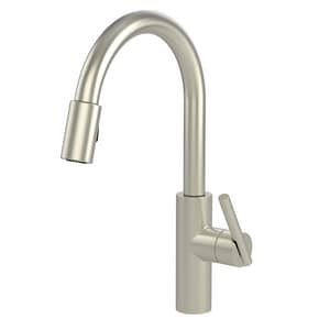Newport Brass East Linear Single Handle Pull Down Kitchen Faucet in Satin Nickel - PVD N1500-5103/15S