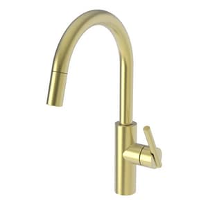 Newport Brass East Linear Single Handle Pull Down Kitchen Faucet in Satin Brass - PVD N1500-5113/04