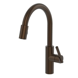 Newport Brass East Linear Single Handle Pull Down Kitchen Faucet in English Bronze N1500-5103/07