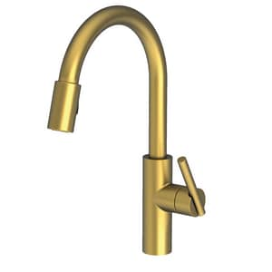 Newport Brass East Linear Single Handle Pull Down Kitchen Faucet in Antique Brass N1500-5103/06