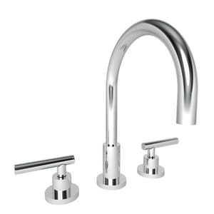 Newport Brass East Linear Two Handle Widespread Bathroom Sink Faucet in Polished Chrome N990L/26