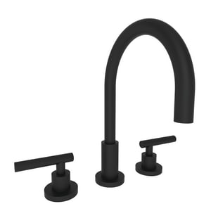 Newport Brass East Linear Two Handle Bathroom Sink Faucet in Flat Black N990L/56