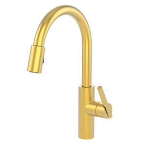 Newport Brass East Linear Single Handle Pull Down Kitchen Faucet in Satin Brass - PVD N1500-5103/04