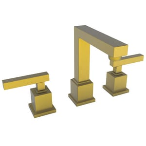 Newport Brass Cube 2 Two Handle Bathroom Sink Faucet in Satin Bronze - PVD N2030/10