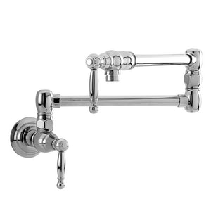 Newport Brass Nadya 1-Hole Wall Mount Pot Filler Faucet with Double Lever Handle in Polished Chrome N9482/26