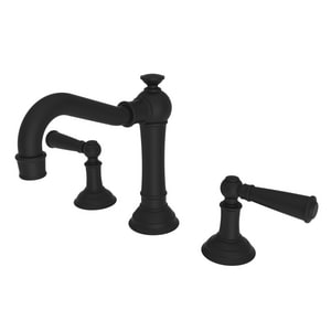 Newport Brass Jacobean Two Handle Bathroom Sink Faucet in Flat Black N2470/56