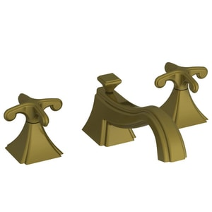 Newport Brass Kiara 3-Hole Widespread Lavatory Faucet with Double Cross Handle in Antique Brass N2520/06