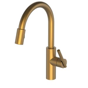 Newport Brass East Linear Single Handle Pull Down Kitchen Faucet in Satin Bronze - PVD N1500-5103/10