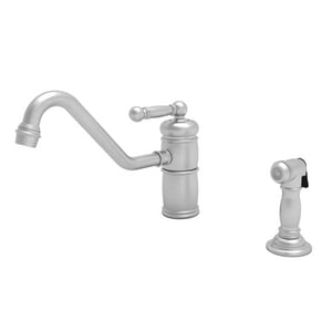 Newport Brass Nadya Single Handle Kitchen Faucet in Stainless Steel - PVD N941/20