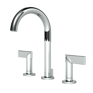 Newport Brass Priya Two Handle Widespread Bathroom Sink Faucet in Polished Chrome N2480/26