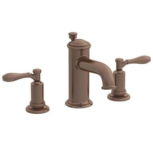 Newport Brass Ithaca 3-Hole Widespread Lavatory Faucet with Double Lever Handle and 6-1/8 in. Spout Reach in English Bronze N2550/07
