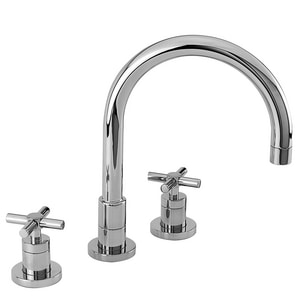 Newport Brass East Linear 3-Hole Kitchen Faucet with Double ...
