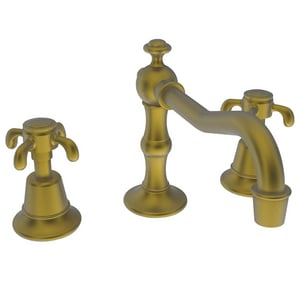 Newport Brass Virginia 1.2 gpm 3-Hole Widespread Lavatory Faucet with Double Cross Handle N1690