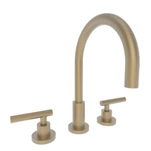 Newport Brass East Linear Two Handle Bathroom Sink Faucet in Satin Bronze - PVD N990L/10