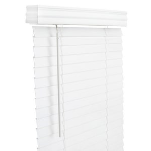 Lotus & Windoware 2 in. Faux Wood Cordless Blind in White LFCXWH