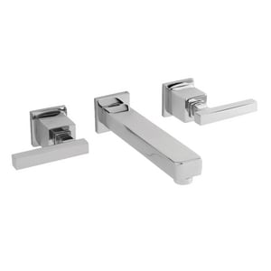 Newport Brass Cube 2 3-Hole Widespread Lavatory Faucet with Double Lever Handle in Polished Chrome N3-2031/26