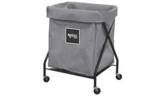 Royal Basket Trucks Vinyl X-Frame Cart in Grey RF08GGXXFA3ONN