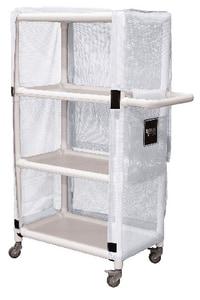 Royal Basket Trucks PVC Linen Cart in White RF42WWXL3A4ULN