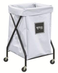 Royal Basket Trucks Vinyl X-Frame Cart in White RF06WWXXFA3ONN