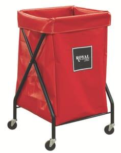 Royal Basket Trucks Vinyl X-Frame Cart in Red RF06RRXXFA3ONN
