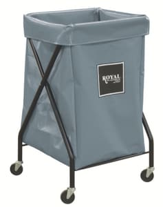 Royal Basket Trucks Vinyl X-Frame Cart in Grey RF06GGXXFA3ONN