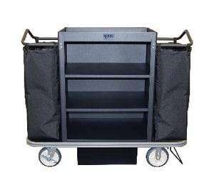 Royal Basket Trucks Steel Housekeeping Cart in Black RF55KKXM3C2DN