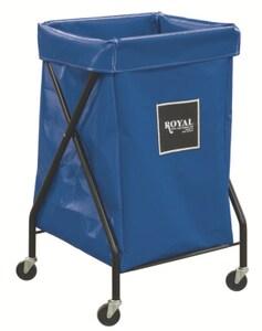 Royal Basket Trucks Vinyl X-Frame Cart in Blue RF06BBXXFA3ONN