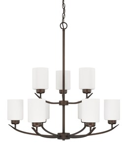 Capital Lighting Fixture Dixon 100W 9-Light Medium E-26 Incandescent Chandelier in Bronze C415291BZ338