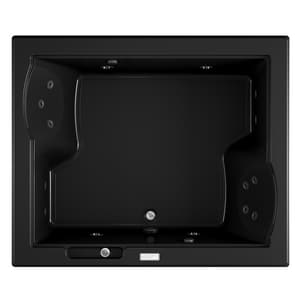 JACUZZI® Fuzion® 71-3/4 x 59-3/4 in. 15-Jet Acrylic Rectangle Drop-In or Undermount Whirlpool Bathtub with Center Drain and J4 Luxury Control in Black JFUZ7260WCL4IHB
